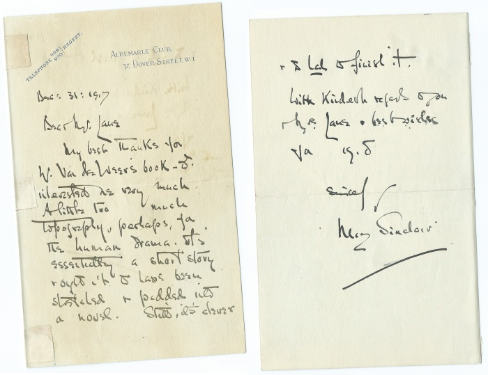 may-sinclair-letter-both-pages