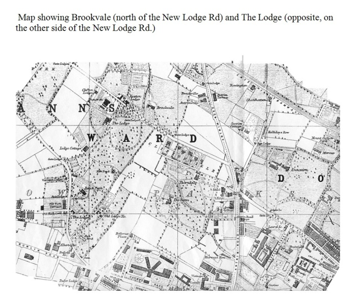 Figure B. Map showing Brookvale and The Lodge Belfast